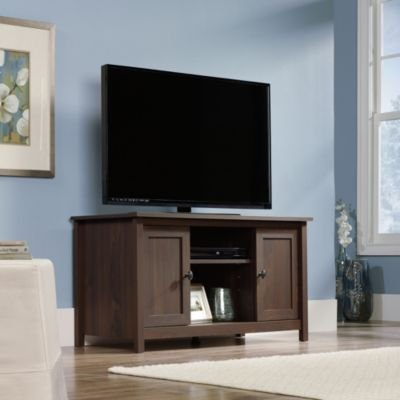 "Sauder County Line TV Stand for TVs up to 47"", Rum Walnut"