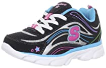 Skechers Kids Lite Waves Lace-Up Sneaker (Little Kid/Big Kid)