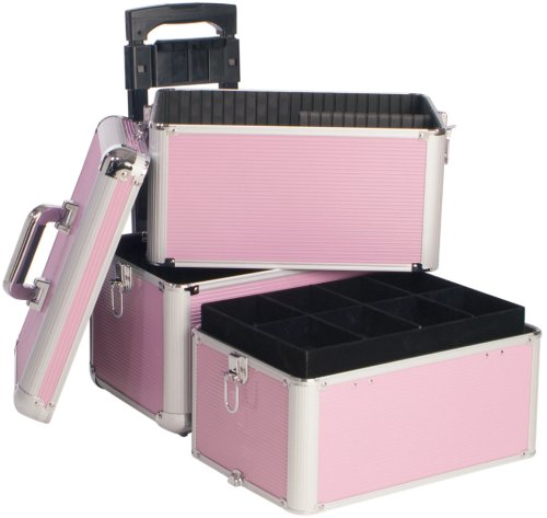 Beauty-Boxes Riva Bella Pink Cosmetics and Make-up Trolley