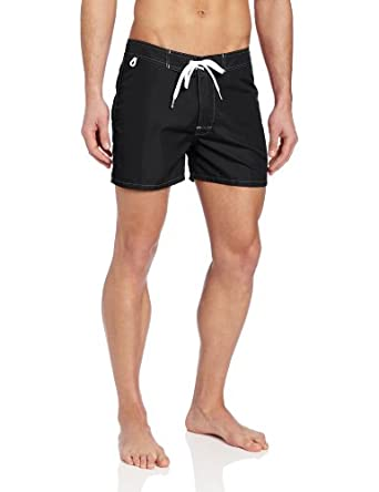 Sundek Men's Classic Board Short 14-Inch Fixed Waist, Black,  32