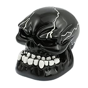 Black Carved Skull Universal Auto Car Gear Stick Shift Knob Cover