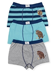 3 Pack Cotton Rich Gruffalo Trunks