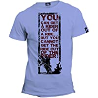 iride RideRider Men's Round Neck Dry Fit Printed graphic Synthetic T-Shirts