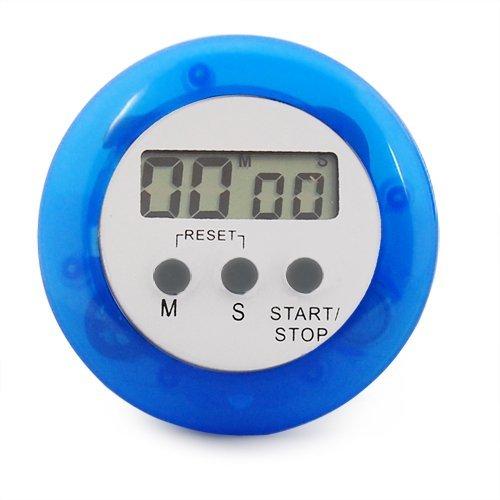 careforyou® machen Elektronische LCD Display runden Digital Kochen Timer Küche Timer Countdown Uhr Alarm Stoppuhr Maximale bis 99Minuten 59Sekunden blau