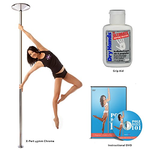 X-Pole Starter Package (X-Pert 45mm Chrome Spinning/Static Portable Dance Pole