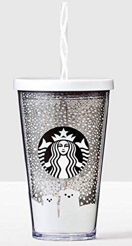 Starbucks Holiday Acrylic Winter Polar Bears 16oz Acrylic Cup & Straw 2016 (Starbucks Cups With Straw compare prices)