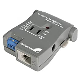 StarTech.com RS-232 to RS485/422 Serial Converter - Transceiver - serial RS-232, serial RS-422, serial RS-485 - RJ-11, terminal block (screw) - 25 pin D-Sub (DB-25) - external RS-232 TO RS-485/422 SER IF CONVRT Manufacturer Part Number IC485S