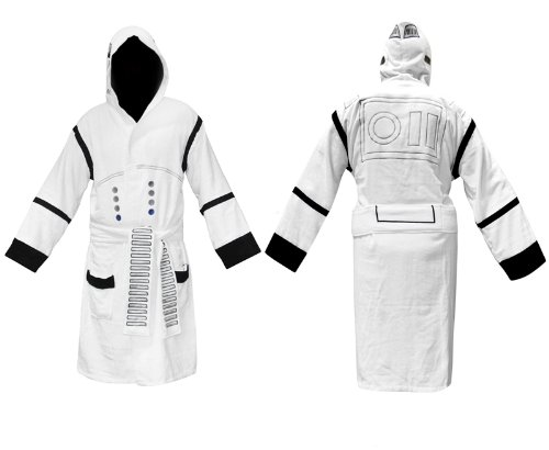 Star Wars Stormtrooper Hooded White Cotton Bath Robe