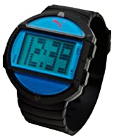 PUMA Men's PU910891001 Half-Time Large Digital Black Blue Watch by PUMA