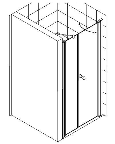 duschabtrennung duscht r dusche nische nischent r glas b. Black Bedroom Furniture Sets. Home Design Ideas