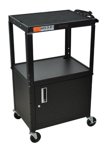 h-wilson-w42ace-adjustable-height-cabinet-av-cart-black