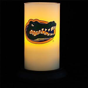 """Florida Gators Flameless Pillar Candle Includes Timer and Decorative Metal Base 3""""x6"""" - Florida"""
