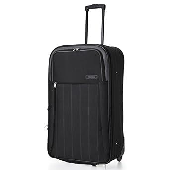Frenzy® Large 26 Inch Expandable Lightweight Luggage Suitcase Bag (412 Black)