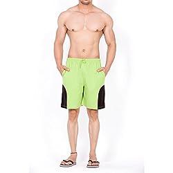 Clifton Mens Shorts MB04-A - Parrot Green/Black - Medium