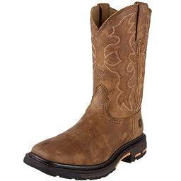Ariat Men\'s Workhog Wide SquareToe Western Work Boot, Rugged Bark, 10.5 D US