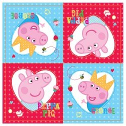 Peppa Pig Red Party Napkins - 1