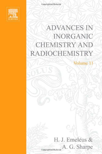 ADVANCES IN INORGANIC CHEMISTRY AND RADIOCHEMISTRY VOL 11, Volume 11 (v. 11)