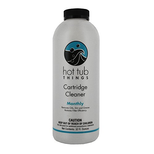 Hot Tub Things Spa Cartridge Cleaner 32 Oz - Designed for Removal of Oils, Grease and Soaps (Hot Tub Spa Cleaner compare prices)