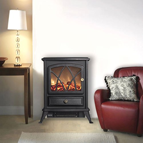 New Wicked 1500W Free Standing Vintage Electric Fireplace Stove Effect w/Heater