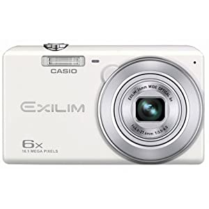Casio Exilim EX-ZS30WE Digitalkamera (20,1 Megapixel, 6,9 cm (2,7 Zoll) Display, 6-fach opt. Zoom, Premium Auto, Gesichtserkennung-Funktion) weiß