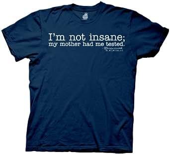 Big Bang Theory I'm Not Insane Mens Tee, Navy Blue, X-Large