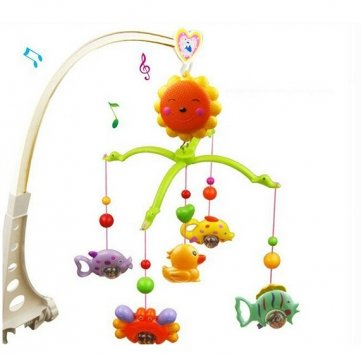 Baby Hand Bed Crib Musical Hanging Rotate Bell Ring Rattle Mobile Toy by Completestore (Cradle Mobile compare prices)