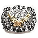 Golden Eagle Western Belt Buckle (Color: Mixed, Tamaño: One Size)