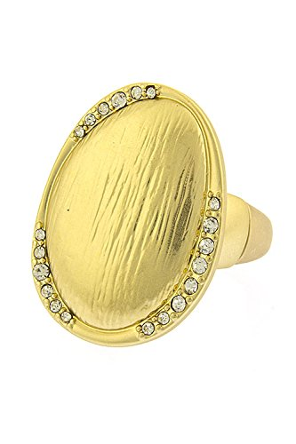 Karmas Canvas Round Textured Ring (Matted Gold)