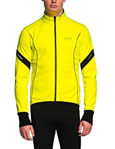 Gore Bike Wear Power 2.0 Soft Shell Men's Cycling Jacket Neon Yellow/black Size:M