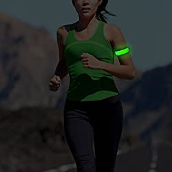 MKOOL Pack of 2 LED Safety Slap Armband for Running Cycling Jogging or Walking At Night green