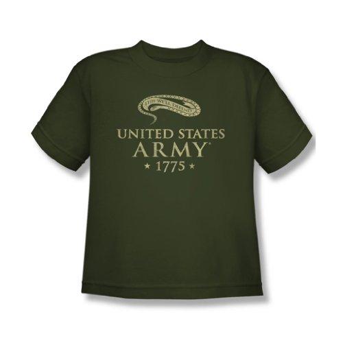 Army-We'Ll Defend-Maglietta a maniche corte per ragazzi verde Verde militare