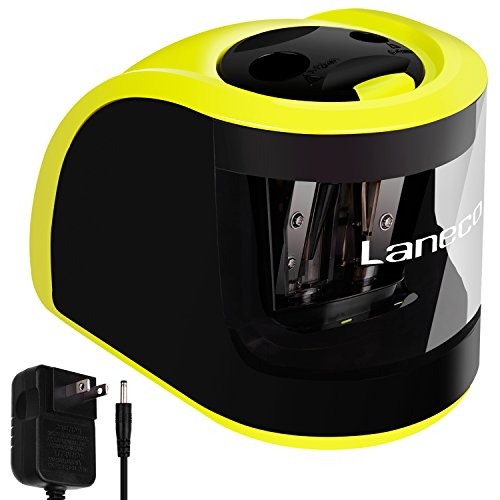 Laneco-Handheld-Electric-Pencil-Sharpener-Adapters-or-Battery-Operated-Heavy-Duty-Including-Replacement-Blades-Great-for-Classroom-Office-School-Kids-Teachers-Artists-and-Adults