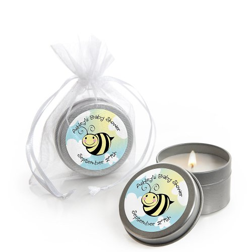 Cute-As-Can-Bee - Personalized Baby Shower Candle Tin Favors front-800146