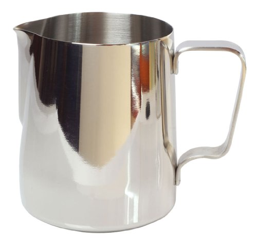 Kobwa(Tm) Silver Stainless Steel Milk Frothing Pitcher Thicken Japanese Stype(350Ml) With Kobwa'S Keyring