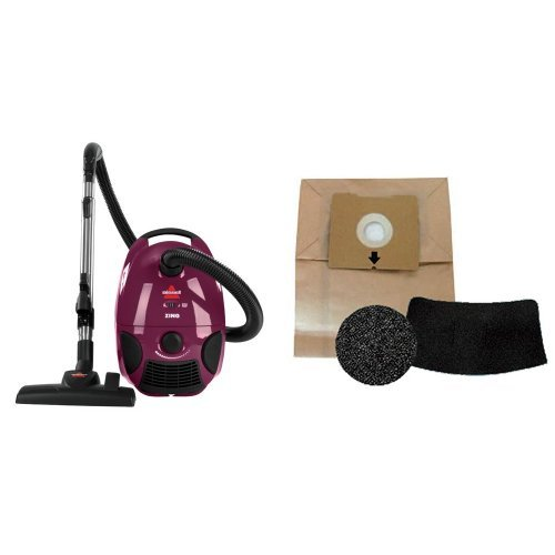 BISSELL Zing Bagged Canister Vacuum, Purple, 4122 & Bissell 1480 Zing Canister Vacuum Accessory Kit - Corded (Bagged Vacuum Bissell compare prices)