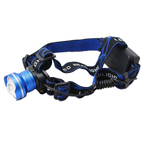 Greenmall 2000 Lumens 10 Watt Retractable T6 Cree Led Sports Outdoor Headlight Lamp (Blue) Lt028