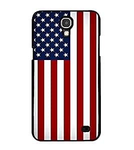 Fuson Premium 2D Back Case Cover Flag With Yellow Background Degined For Samsung Galaxy Mega 2 SM-G750H