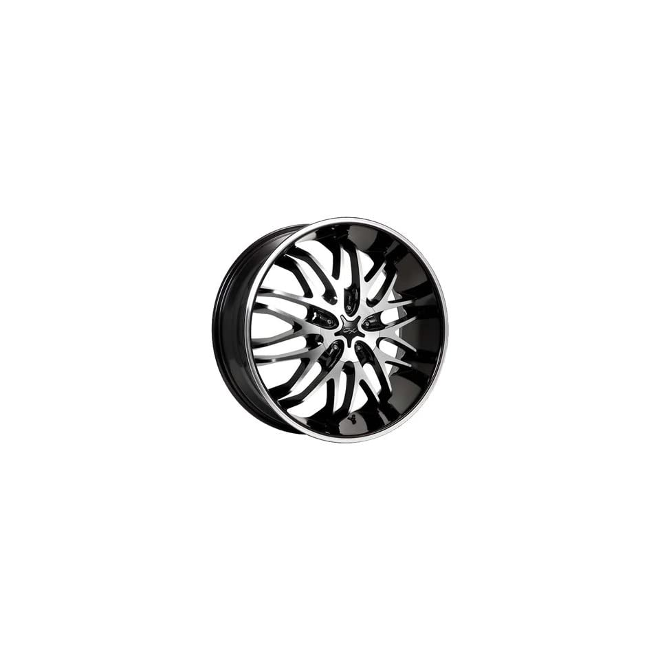 CX Chaos 20x8.5 Machined Black Wheel / Rim 5x112 & 5x4.5 with a 40mm Offset and a 73.00 Hub Bore. Partnumber 818MB 2855940