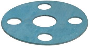 Aramid/Buna-N Flange Gasket, Full Face, Blue, Fits Class 150 Flange