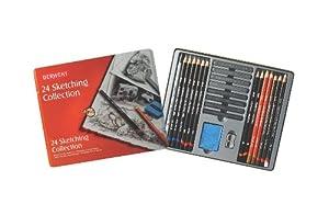 Derwent Sketching Collection, Metal Tin, 24 Count (34306)