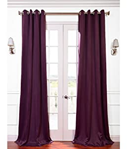 Aubergine Grommet Blackout Curtain from Exclusive Fabrics & Furnishings
