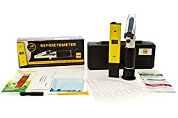 Beer Brewing Test Kit | Brix Refractometer and Backlit pH Meter Pen |Fast & Accurate Readings | Great for Home Brewing Beer and Wine
