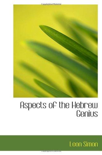 Aspects of the Hebrew Genius