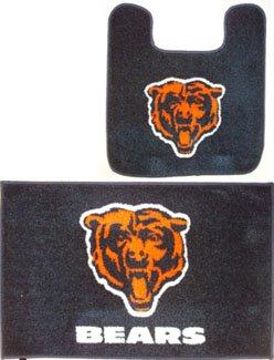 Chicago Bears Two Piece Bath Rug Set Home Garden Bathroom