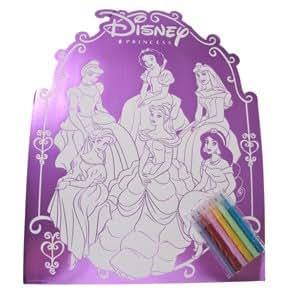 Amazon Com Disney Princess Foil Poster Coloring Set Disney Princess Coloring Poster
