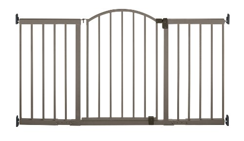 Summer Metal Expansion Gate, 6 Foot Wide Extra Tall Walk-Thru, Bronze