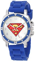"""Superman Kids' SUP9012 """"Superman"""" Logo Watch with Rubber Band"""