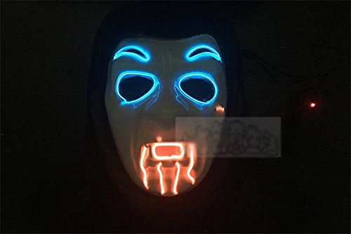 galaxyhkt cosplay amazing Light Up dj dance creepy angry ghost monster bamboo hat V Vendetta led Halloween party club Mardi mask (vampire (New Slipknot Masks For Sale)