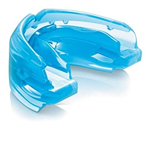 Shock Doctor Double Braces Strapless Mouthguard (Blue, Adult)