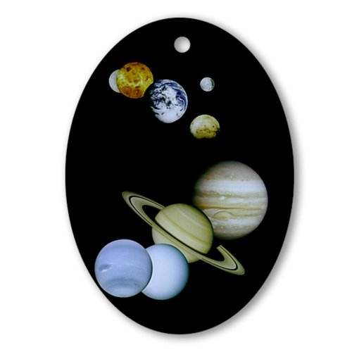 CafePress Our Solar System Christmas Tree Oval Ornament - Standard Multi-color